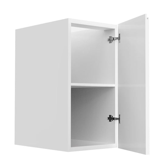"15"" Single Door Base Cabinet, Lacqure White"