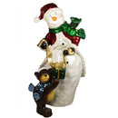 "Load image into Gallery viewer, 48"" Commercial Size Snowman with Bear Christmas Display Outdoor Decoration"