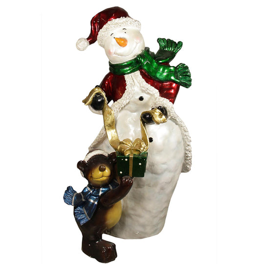 "48"" Commercial Size Snowman with Bear Christmas Display Outdoor Decoration"