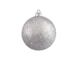 Silver Splendor Holographic Glitter Commercial Shatterproof Christmas Ball Ornament 10