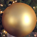 "Load image into Gallery viewer, Vegas Gold Shatterproof Matte Christmas Ball Ornament 8"" (200mm)"