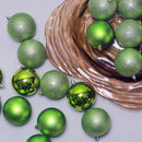 "Load image into Gallery viewer, 32Ct Kiwi Green Shatterproof 4 Finish Christmas Ball Ornaments 3.25"" (80Mm)"