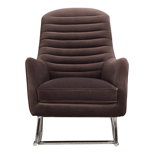 Transitional Lars Rocker Velvet Lounge Chair - Corner Reading Chair