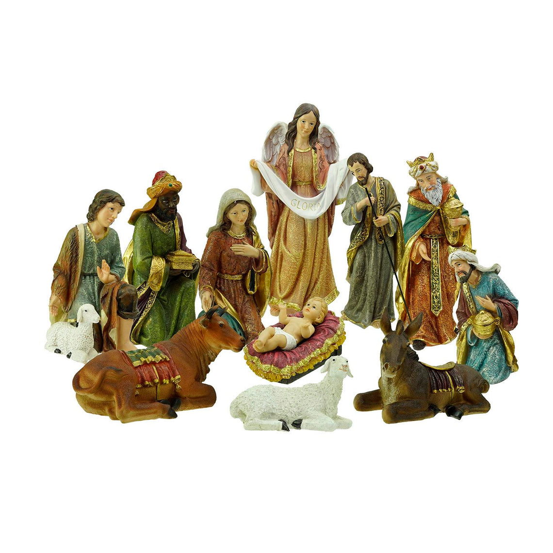 11 Piece Holy Family And Three Kings Inspirational Religious Christmas Nativity