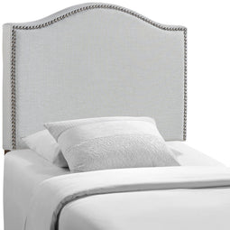 Modern Curl Nailhead Upholstered Headboard - Bedroom Bed Headboard
