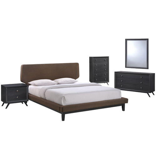 Bethany Black and Brown 5-Piece Queen Bedroom Set