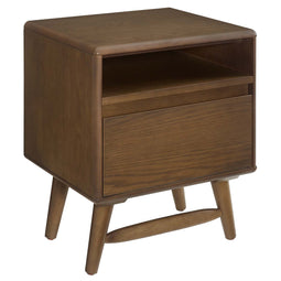 Talwyn Rustic Modern Wood 2-Drawer Bedroom Nightstand - 15.5
