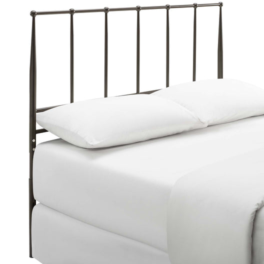 Cottage Style Kianna King Metal Stainless Steel Headboard