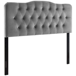 Modern Annabel Diamond Tufted Performance Velvet Headboard - Bed Headboard