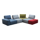 Load image into Gallery viewer, Contemporary Modern Nathaniel Modular Slipper Sectional Chair - Multicolor