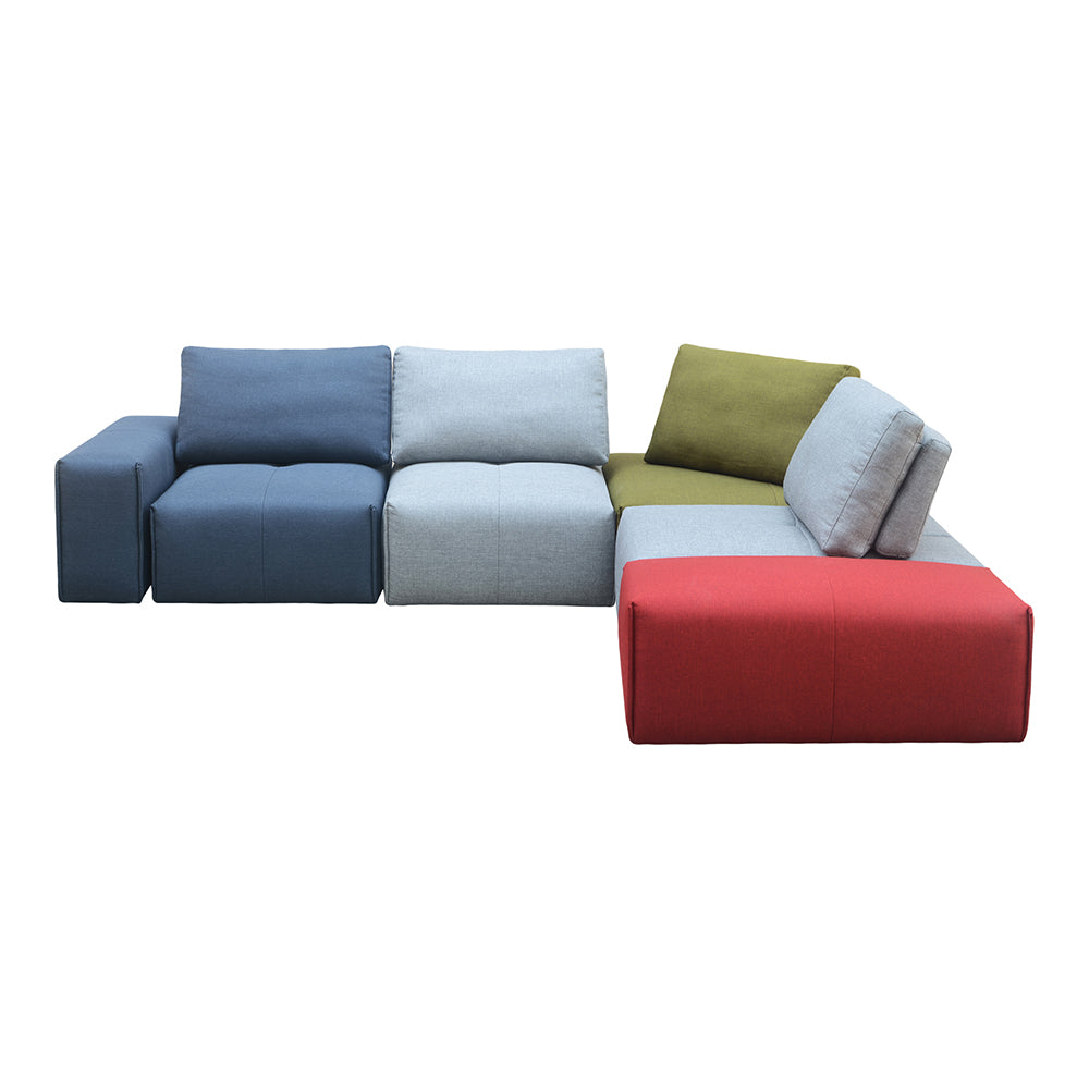Contemporary Modern Nathaniel Modular Slipper Sectional Chair - Multicolor