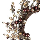 "Load image into Gallery viewer, 20"" Autumnal Bliss Ball Ornaments on a Natural Vine Wrapped Wreath"