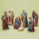 Load image into Gallery viewer, 8-Piece Jewel Tone Inspirational Religious Christmas Nativity Figure Set 12.25""