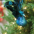 "Load image into Gallery viewer, 10"" Turquoise Blue and Green Peacock Clip-On Christmas Ornament"