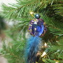 "Load image into Gallery viewer, Northlight Gb146701693001-10"" Regal Peackock Purple & Gold With Blue Jewel Hanging Tassel Christmas Ornament"