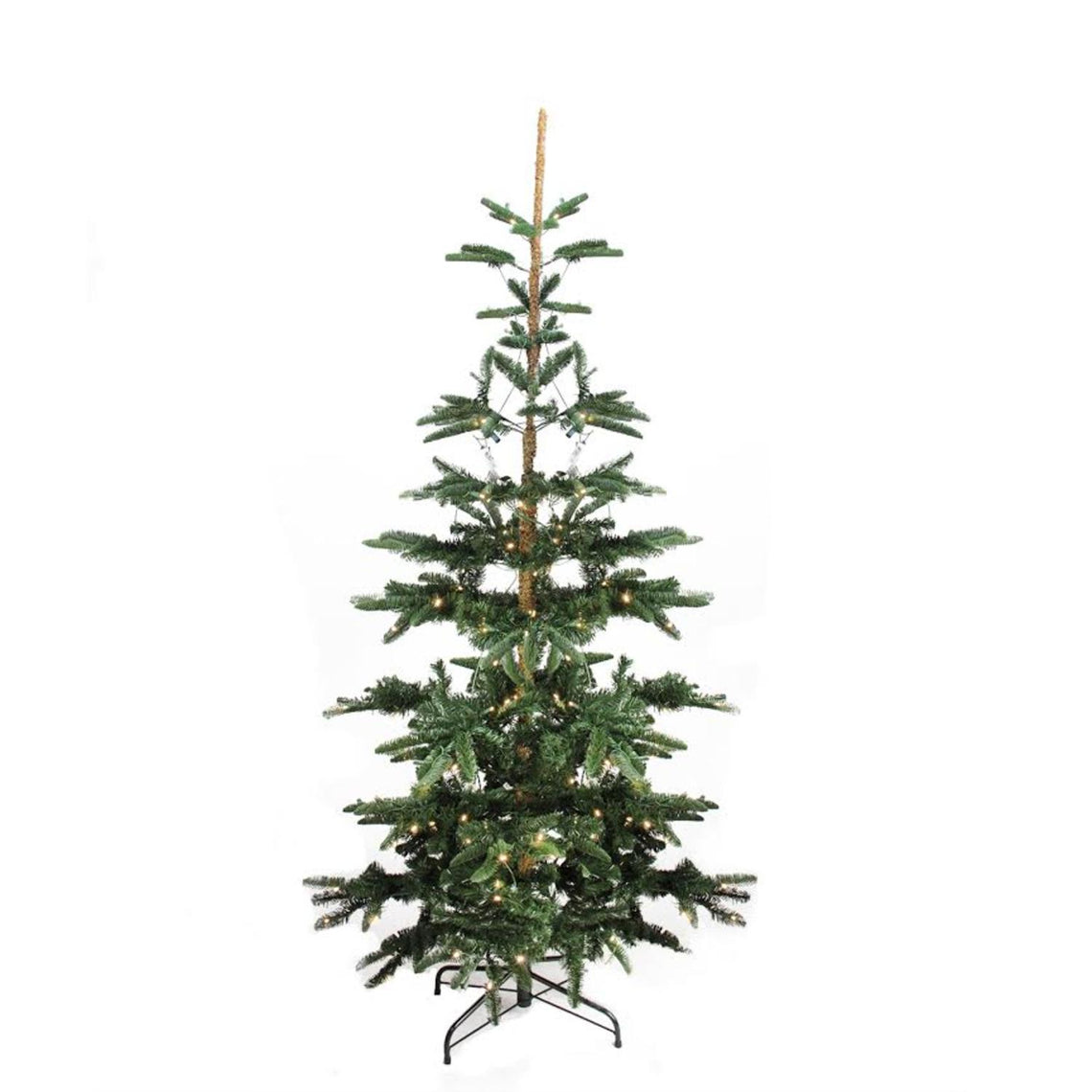 9' Pre-Lit Layered Noble Fir Artificial Christmas Tree - Warm Clear LED Lights