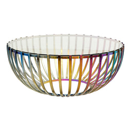 Contemporary Modern Prism Coffee - Cafe Lounge Table In Rainbow Finish