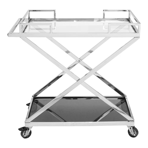 Moetini Bar Cart, Transitional, Silver