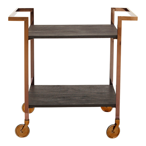 Transitional Manhattan Wooden Top Bar Cart - Modern Bar Cart