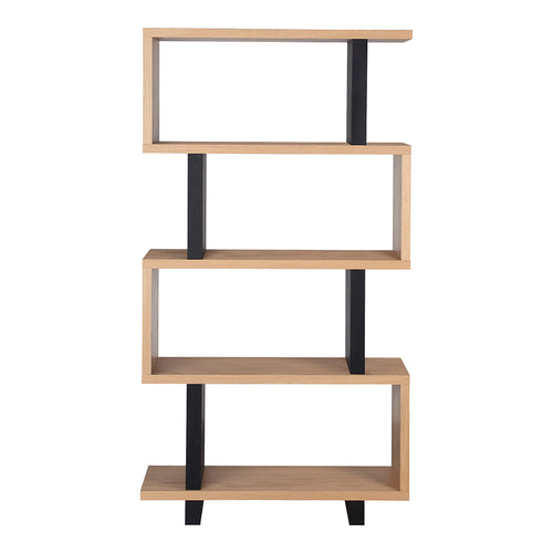 Denecker Bookshelf Small, Natural, Contemporary Modern