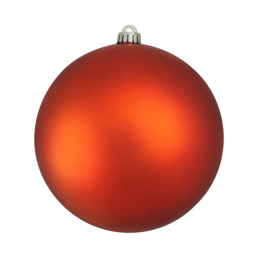 Shatterproof Matte Burnt Orange UV Resistant Commercial Christmas Ball Ornament 8