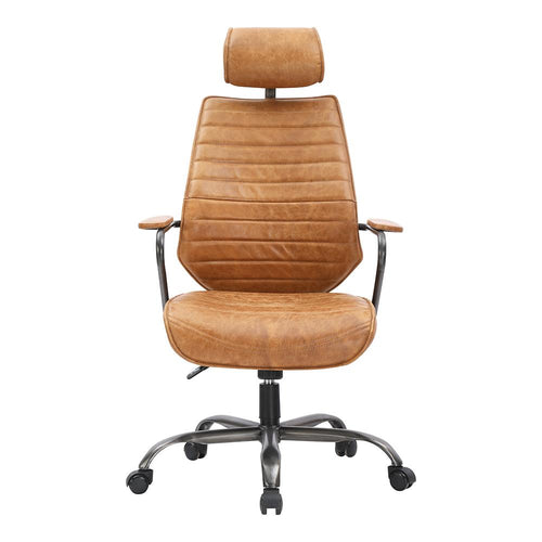 Brown Executive Swivel Office Chair for Seamless Working | BUILDMyplace