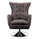 Load image into Gallery viewer, Contemporary Modern Apsley Tufted Leather Swivel Club Chair - Outdoor Lounge Chair