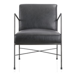 Dagwood Leather Arm Chair Black