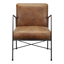 Contemporary Modern Dagwood Club Lounge Chair - Elegance Leather Living Room Chair