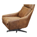 Load image into Gallery viewer, Faris Leather Swivel Chair Light Brown, Cappuccino, Transitional
