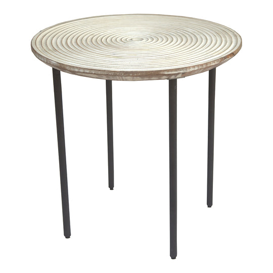 Vortex Side Table, Natural, Contemporary Modern
