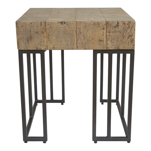 Crosscut Side Table, Natural, Rustic