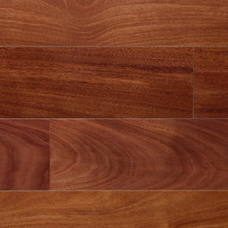 Rigid Core Exotic Santos Mahogany Hardwood Flooring In Natural, 1/2