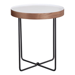 Lenor Side Table, White, Contemporary Modern