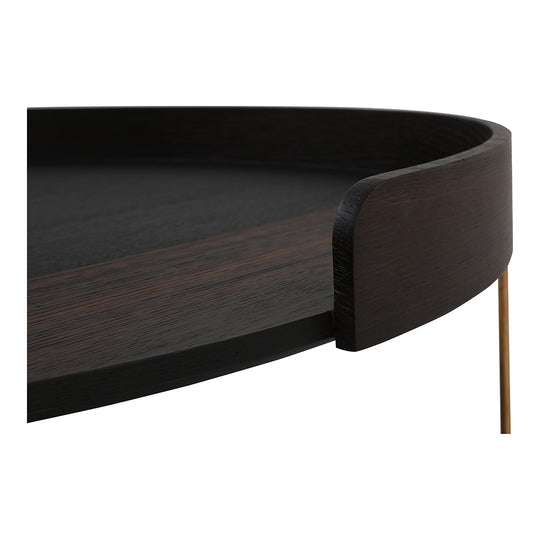 Contemporary Modern Linette Round Coffee Table - Cocktail Bar Table - Bar Table