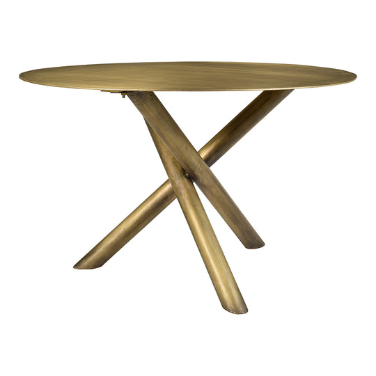 Sonoma Round Dining Room Table - Club Height Table -Dining Room Bare Table - Brass