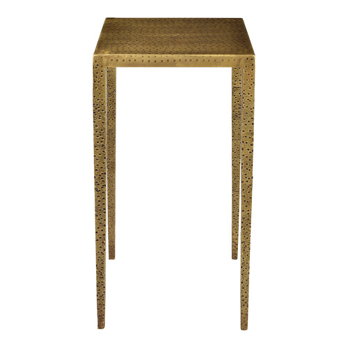 Bradley Counter Stool, Industrial, Brass