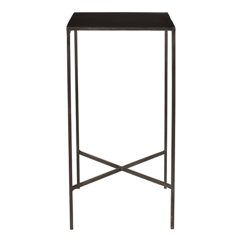 Contemporary Modern Altimore Accent Table In Iron - Long Lasting Farmhouse Side End Table In Small Modern Square For Kitchen - Bedroom
