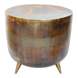 Contemporary Modern Kettle Accent Table - Aluminium - Living Room - Modern End Tables In Drum-Style