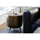 Load image into Gallery viewer, Contemporary Modern Kettle Accent Table - Aluminium - Living Room - Modern End Tables In Drum-Style