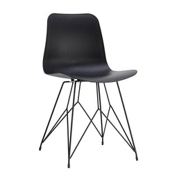 Esterno Outdoor Chair Black-Set Of Two, Black