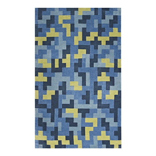 Andela Interlocking Block Mosaic Area Rug