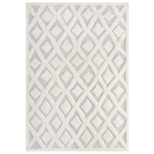 Whimsical Morsel Abstract Diamond Lattice Shag Area Rug
