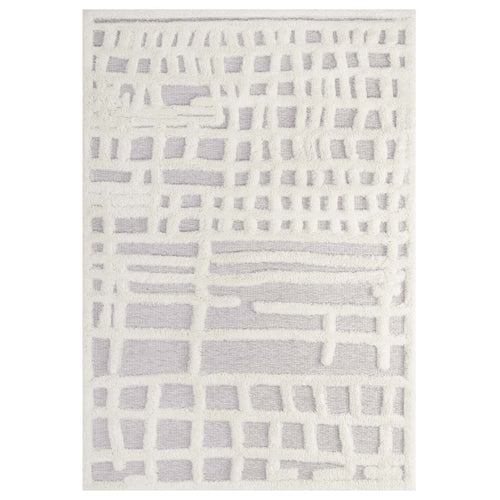 Whimsical Ladder Abstract Plaid Lattice Shag Area Rug