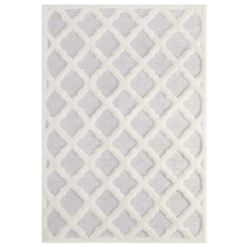 Whimsical Regale Abstract Moroccan Trellis Shag Area Rug
