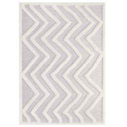 Whimsical Pathway Abstract Chevron Shag Area Rug