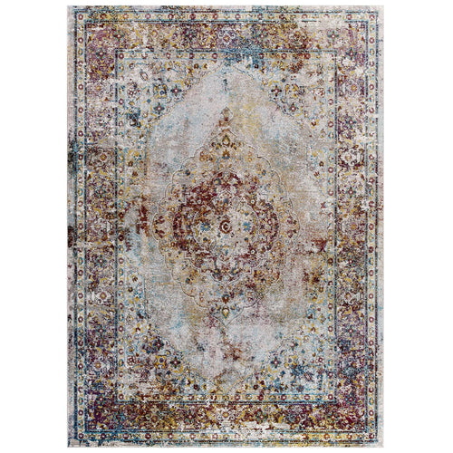Success Merritt Transitional Distressed Floral Persian Medallion Area Rug