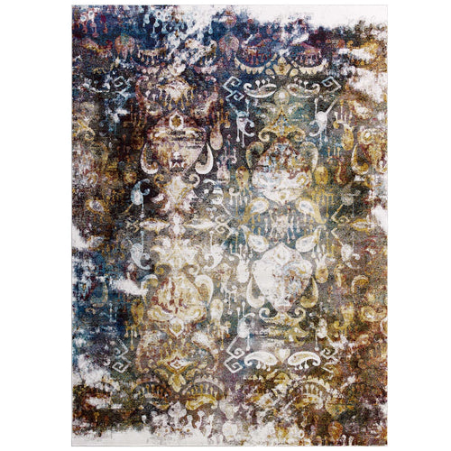 Success Jayla Transitional Distressed Vintage Floral Moroccan Trellis Area Rug