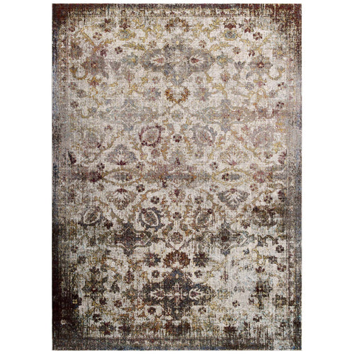 Success Kaede Distressed Vintage Floral Moroccan Trellis Area Rug