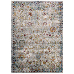 Success Manuka Distressed Vintage Floral Lattice Area Rug